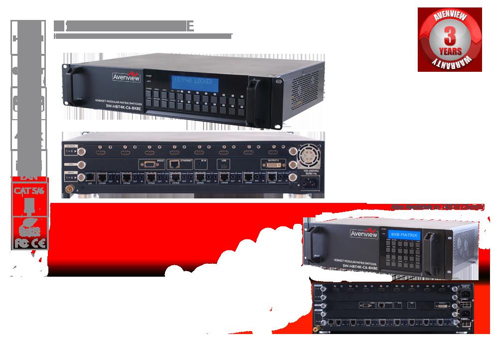 HDBaseT Modular Matrix Switchers