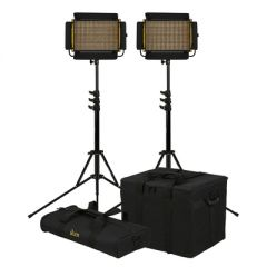 Ikan OYB5-2PT-KIT Onyx Half x 1 Bi-Color 2-Point LED Light Kit...
