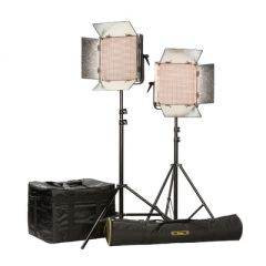 Ikan IB1000-PLUS-2PT-KIT Kit w/ 2 x IB1000 Lights, Yokes, & Gold...