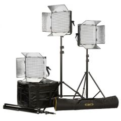 Ikan ID1000-PLUS-3PT-KIT Kit w/ 3 x ID1000-v2 Lights, Yokes, &...