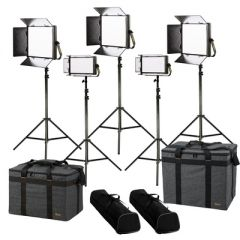 Ikan LB-3F2H Lyra Bi-Color 5-Point LED Soft Panel Light Kit w/...