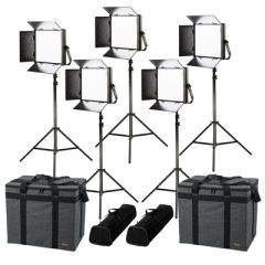 Ikan LB10-5PT-KIT Lyra Bi-Color 5-Point LED Soft Panel Light Kit...