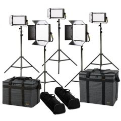 Ikan LW-2F3H Lyra Daylight 5-Point LED Soft Panel Light Kit w/...