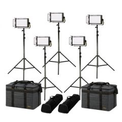 Ikan LW5-5PT-KIT Lyra Daylight 5-Point LED Soft Panel Light Kit...