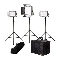 Ikan LB-1F2H Lyra Bi-Color 3-Point LED Soft Panel Light Kit w/...