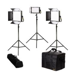 Ikan LB-2F1H Lyra Bi-Color 3-Point LED Soft Panel Light Kit w/...