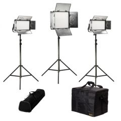 Ikan RW-1F2H Rayden Daylight 3-Point LED Light Kit w/ 1x RW10 +...