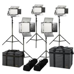Ikan RB-2F3H Rayden Bi-Color 5-Point LED Light Kit w/ 2x RB10 +...