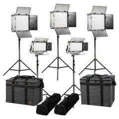 Ikan RW-3F2H Rayden Daylight 5-Point LED Light Kit w/ 3x RW10 +...