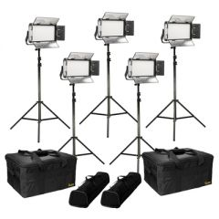 Ikan RB5-5PT-KIT Rayden Bi-Color 5-Point LED Light Kit w/ 5x...