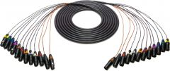 Sescom 12XLM-12XLF-125 Snake Cable 12-Channel XLR Male to XLR Female - 125 Foot