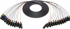 Sescom 12XLM-12XLF-25   Snake Cable 12-Channel XLR Male to XLR Female - 25 Foot