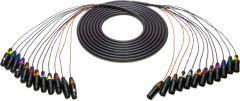 Sescom 12XLM-12XLF-50 Snake Cable 12-Channel XLR Male to XLR Female - 50 Foot
