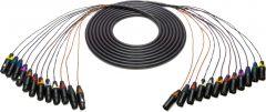 Sescom 12XLM-12XLF-6   Snake Cable 12-Channel XLR Male to XLR Female - 6 Foot