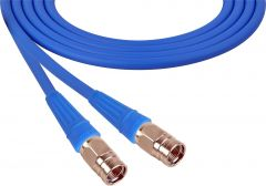 Laird Digital Cinema 1505-F-F-100-BE Laird  Belden 1505A F-Male to F-Male RG59 Digital Coax Cable - 100 Foot Blue
