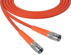 Laird Digital Cinema 1505-F-F-100-OE Laird  Belden 1505A F-Male to F-Male RG59 Digital Coax Cable - 100 Foot Orange