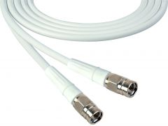 Laird Digital Cinema 1505-F-F-100-WE Laird  Belden 1505A F-Male to F-Male RG59 Digital Coax Cable - 100 Foot White