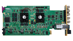 Miranda XVP-3901-OPT-AUD AES IO support & 16 channels on-board...