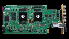 Miranda XVP-3901-75-3DRP-R Double-slot-width panel w/ 75Ω audio...