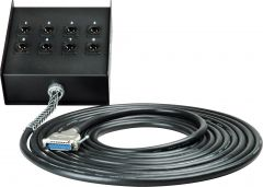 Sescom 25MA-XMB-C10 Audio Snake Cable Canare Analog 25-Pin D-Sub Male to 8 XLR Male Receptacle Fan Box - 10 Foot