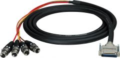 Sescom 25MD-4XF-YG15 Audio Cable Gepco 25-Pin D-Sub Male to 4 XLR Female w/ 24in. Fanouts Yamaha - 15 Foot