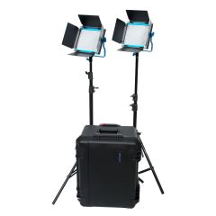Dracast S Series LED500 PLUS Bi-Color with 2 NPF plates 2-Light Kit w/Hard Case