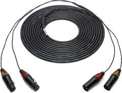 Sescom 2XLM-2XLF-75 2-Channel Snake Cable XLR Male to XLR Female with 24 inch Fanout - 75 Foot