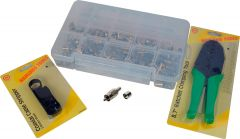 TecNec 3KIT RCA Crimp Kit w/ 50 RCA Video Connectors Crimper...
