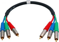 Laird Digital Cinema 3RCA-25 Laird Canare V3-3C 3-Channel RCA Component Cable - 5 Foot