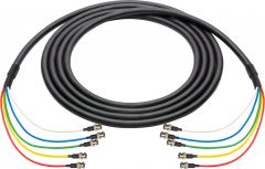 Laird Digital Cinema 4694RX5-BB-003 Laird  RG6 12G-SDI/4K UHD 5 Channel BNC Male to BNC Male Snake - Black - 3 Foot