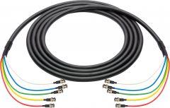Laird Digital Cinema 4694RX5-BB-075 Laird  RG6 12G-SDI/4K UHD 5 Channel BNC Male to BNC Male Snake - Black - 75 Foot