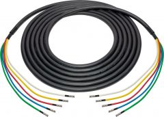 Laird Digital Cinema 4694RX5-MBMB-075 Laird  RG6 12G-SDI/4K UHD 5 Channel HDBNC Male to HDBNC Male Snake - Black - 75 Foot
