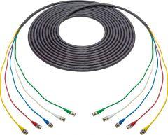 Laird Digital Cinema 4855RX5-BB-125 Laird  RG59 12G-SDI/4K UHD 5- Channel BNC Male to BNC Male Snake Cable - Black - 125 Foot