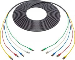 Laird Digital Cinema 4855RX5-BBF-010 Laird  RG59 12G-SDI/4K UHD 5- Channel BNC Male to BNC Female Snake Cable - Black - 10 Foot