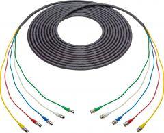 Laird Digital Cinema 4855RX5-BBF-025 Laird  RG59 12G-SDI/4K UHD 5- Channel BNC Male to BNC Female Snake Cable - Black - 25 Foot