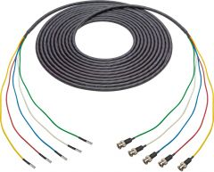 Laird Digital Cinema 4855RX5-D-B-006 Laird  Belden 4855RX5 Male 12G DIN to Male 12G BNC 5-Channel cable - 6 Foot