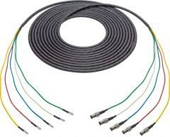 Laird Digital Cinema 4855RX5-D-BF-075 Laird  Belden 4855RX5 Male 12G DIN to Female 12G BNC 5-Channel cable - 75 Foot