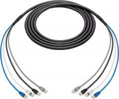 Laird Digital Cinema 4C6SNK-100 Laird  4-Channel Belden Cat6 Ethernet Cable with 10G RJ45 Connectors & 18 Inch Fanouts - 100 Foot