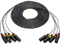 Sescom 4XLM-4XLF-125 Snake Cable 4-Channel XLR Male to XLR Female - 125 Foot