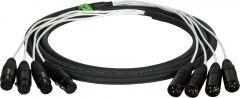 TecNec 4XLM-4XLF-150 4-Channel XLRM-XLRF Audio Snake 150ft
