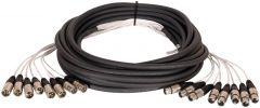 TecNec 8XLM-8XLF-30 8-Channel XLRF-XLRM Audio Snake 30ft