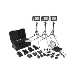 Litepanels 935-3101 Lykos Bi-Color Flight Kit w/ Battery Bundle