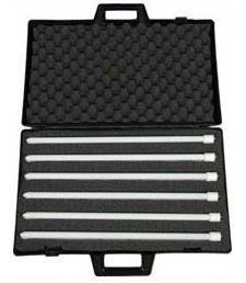 FloLight FL-CASET Black Plastic Case w/ Foam Inserts for 6 55W...