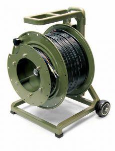 500 Meter (1640 Ft) Tactical Fiber on Heavy Duty Reel 2 Fiber LC cnct