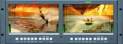 "Wohler Dual 100"" Widescreen LCD Video Monitor 3G/HD/SD-SDI/Composite"