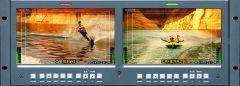"Wohler Dual 100"" Widescreen LCD Video Monitor 3G/HD/SD-SDI/Composite"
