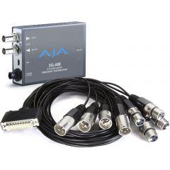 AJA 3G-SDI 8-Ch AES Embedder/Disembedder, bal. XLR, USB Mini-Config support 3G-AM-XLR