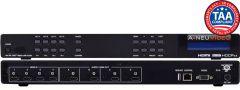 A-Neuvideo ANI-44HPSC 4x4 4K60Hz HDR HDMI Matrix Routing Switcher w/ 1080 down scaling, Analog Audio Output