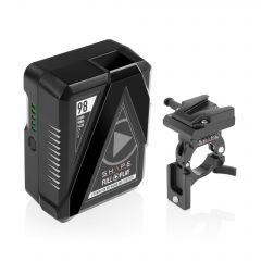 Shape SHAPE FULL PLAY14.8 V 98 WH rechargeable lithium-ion V-mount battery with V-mount battery dock clamp for 30mm gimbal handlebar - B30GC