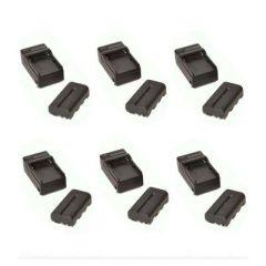 Bescor 6 Pack NPF Battery & Charger Kit